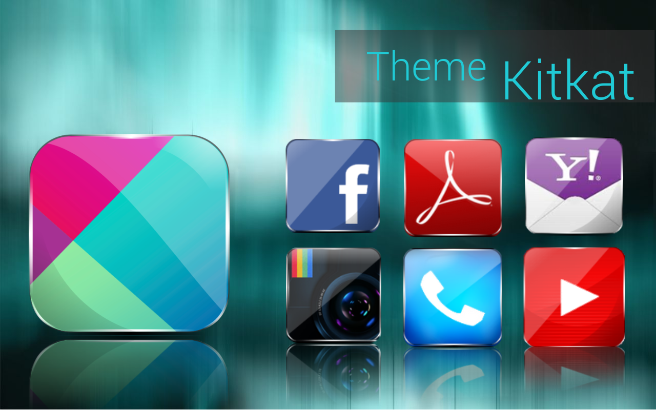 Concept kitkat theme HD 7 in 1 - screenshot