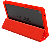Funda tipo carpeta para Nexus 7 (2013) en color rojo brillante