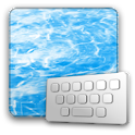 ClearkeyWater keyboard skin logo