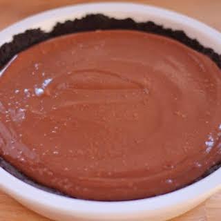 Chocolate Tofu Pie.