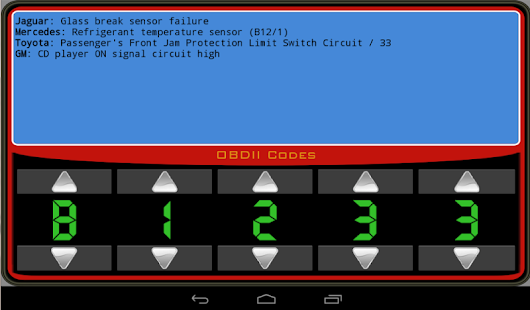 OBDII Trouble Codes- screenshot thumbnail