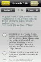 Screenshot of Prova da OAB
