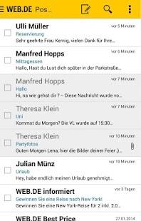 WEB.DE Mail - screenshot thumbnail