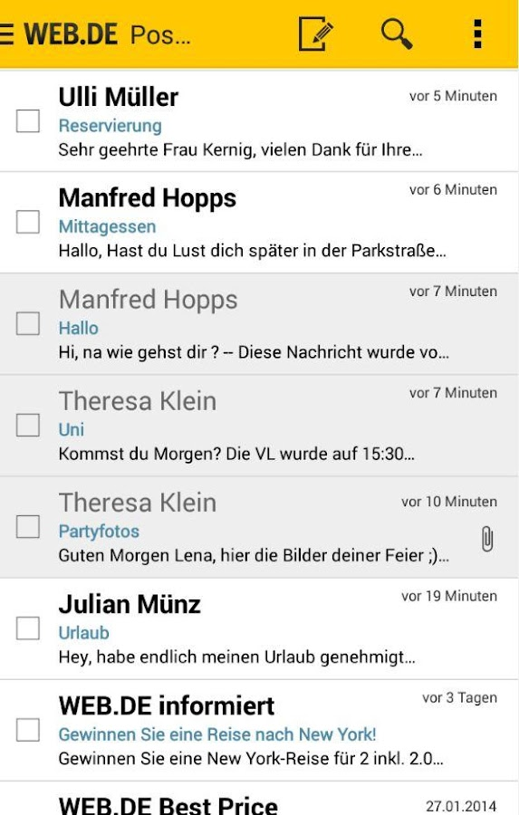 WEB.DE Mail - screenshot