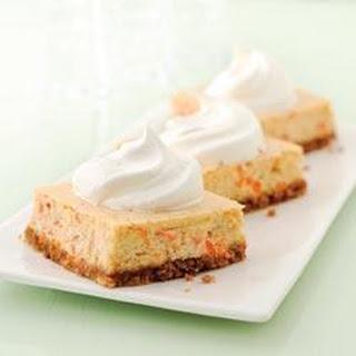 Carrot Cheesecake Bars.