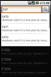Halal E-Codes