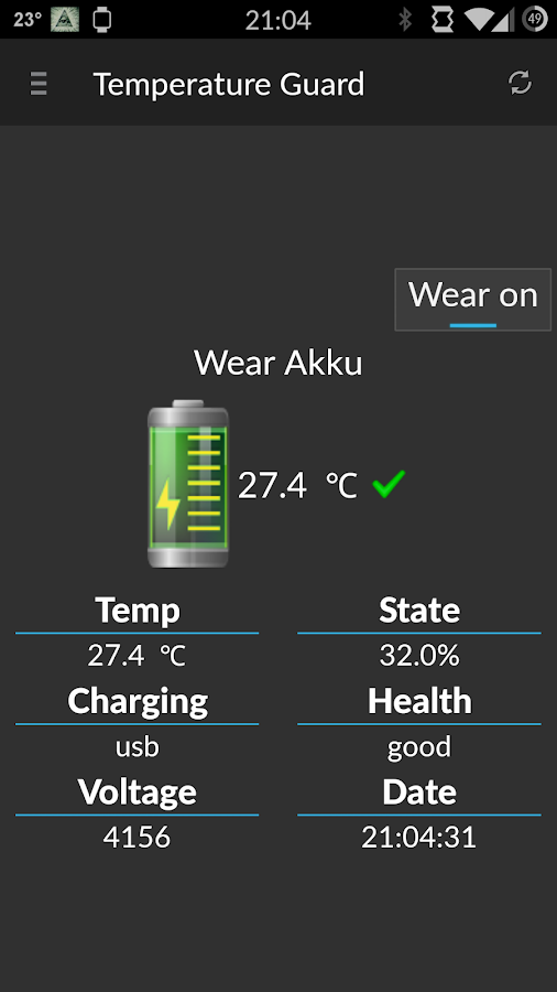 Battery Temperature Guard free - screenshot