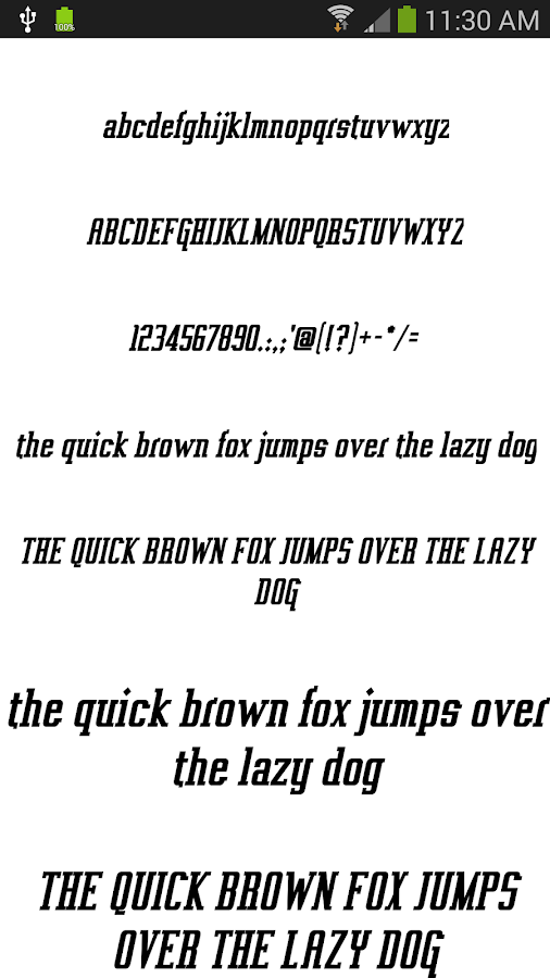 Fonts for FlipFont 50 #3 - screenshot
