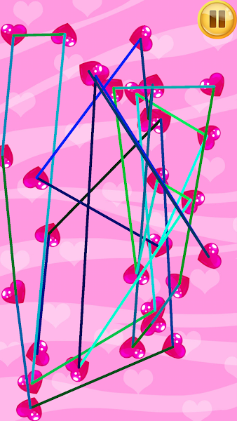 Love Tangle, challenging puzzles, sweet hearts, trivia game, arcade game, game for girl