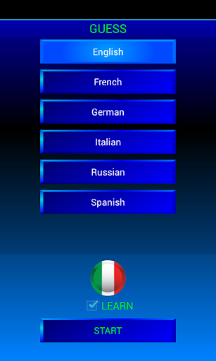 Guess and learn Italian