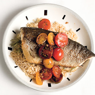 Rosemary Trout with Cherry-Tomato Sauce.
