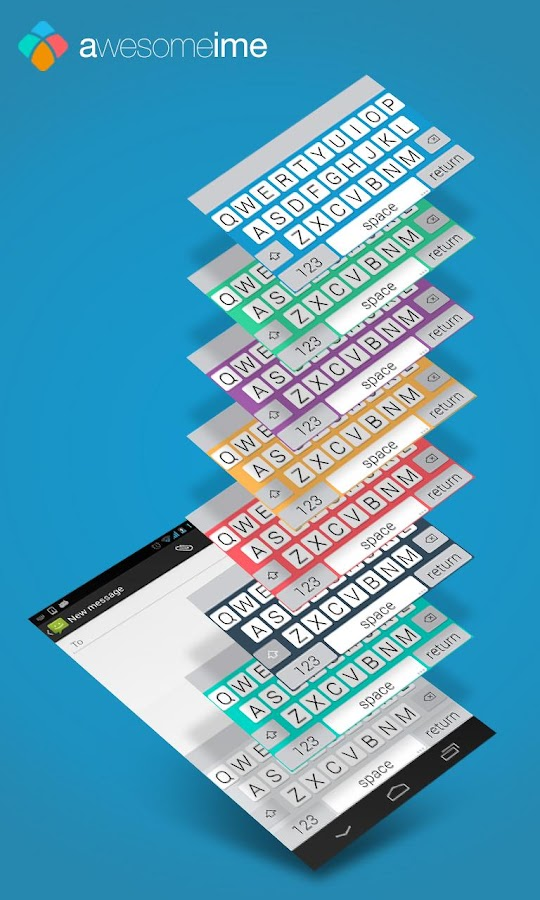 AwesomeIME - FLAT Keyboard - screenshot