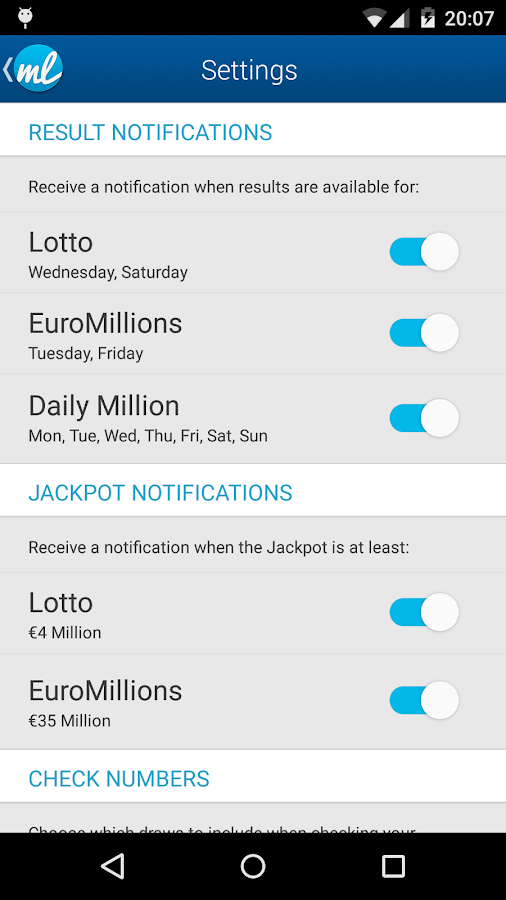 Irish Lottery Results (Lotto Ireland)- screenshot
