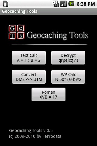 Geocaching Tools- screenshot