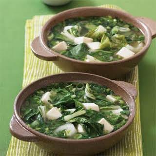 Asian Greens and Tofu Soup.