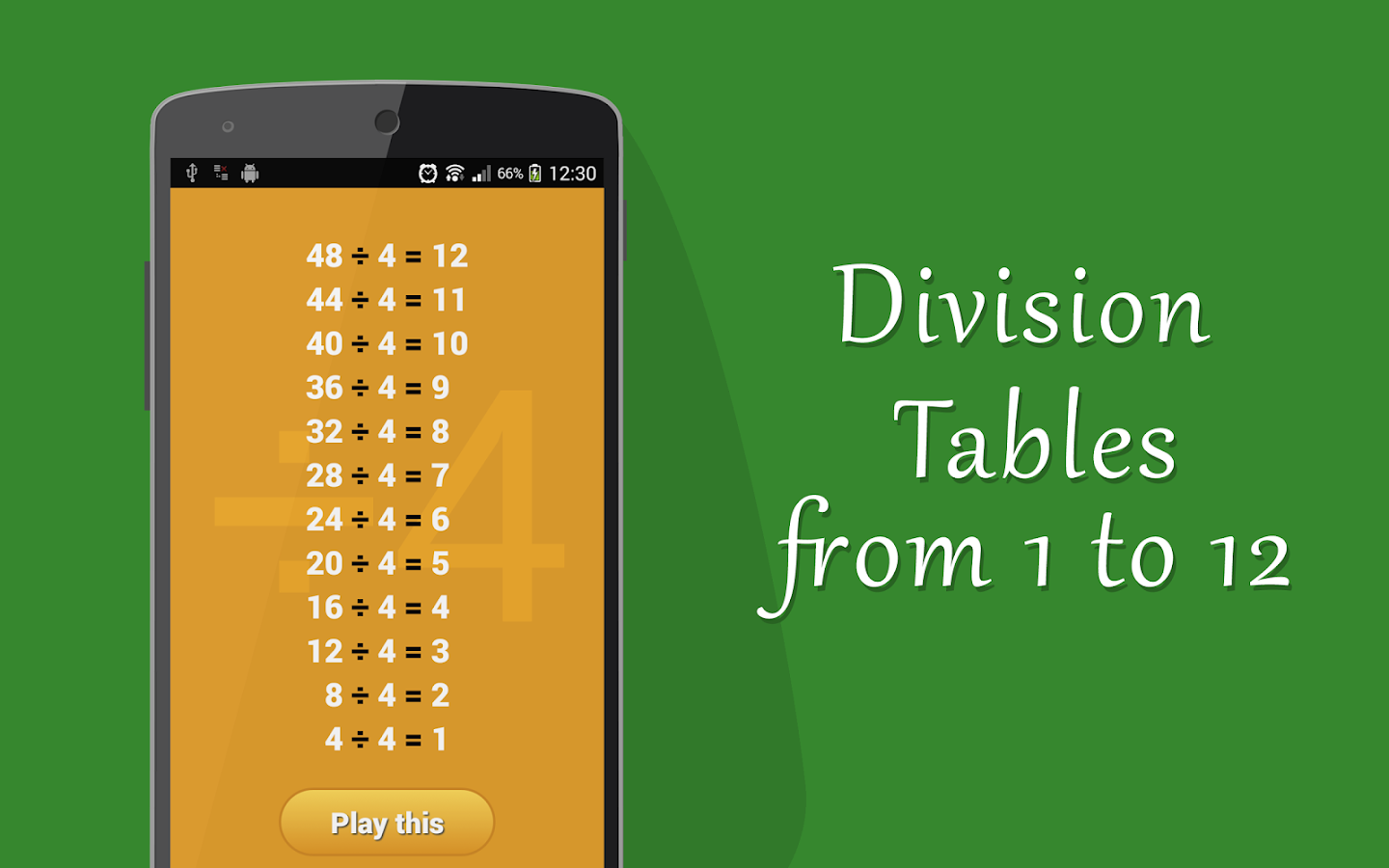worksheet Division Tables 12 division table kids math android apps on google play screenshot