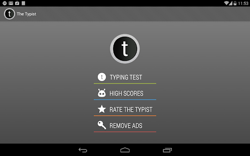 Typist: A Quick Typing Test- screenshot thumbnail