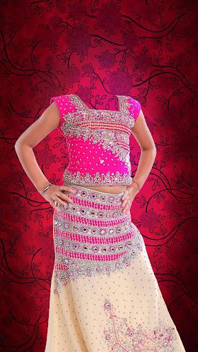印度人女孩種服裝照片拼貼