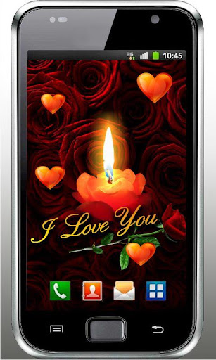 Love Candle HD Live Wallpaper