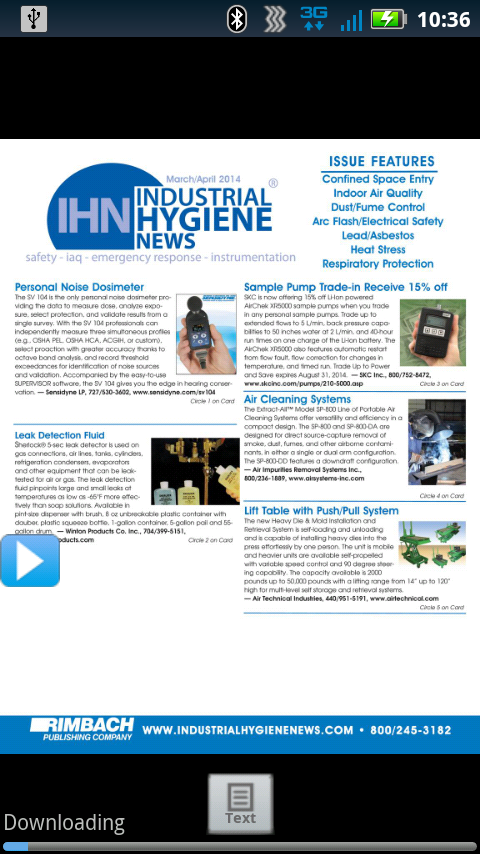 Industrial Hygiene News- screenshot