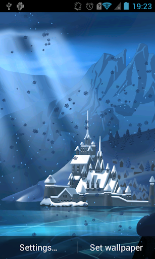 Winter castle Live Wallpaper