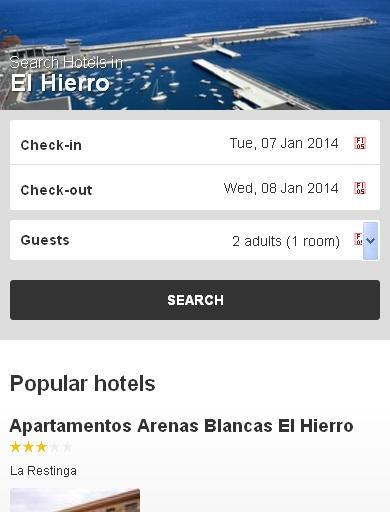 El Hierro Hotel finder