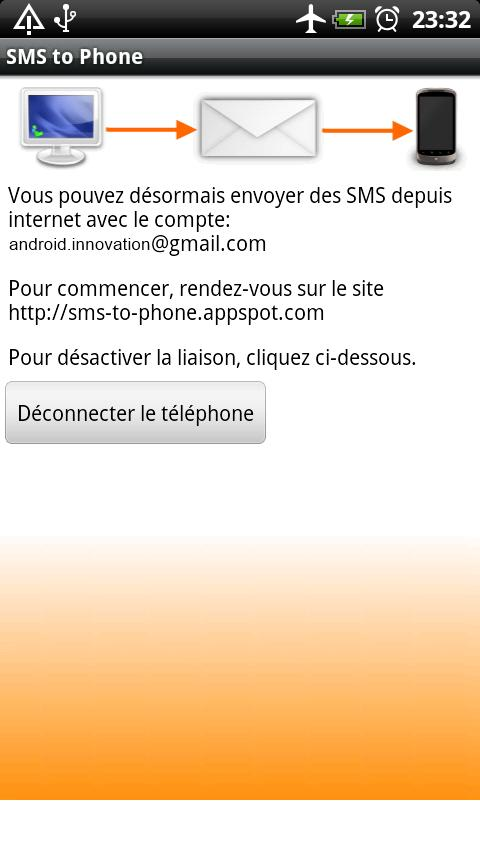 SMS to Phone - screenshot