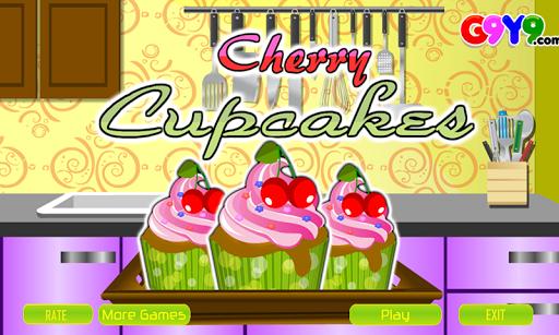 チェリーカップケーキ料理ゲーム