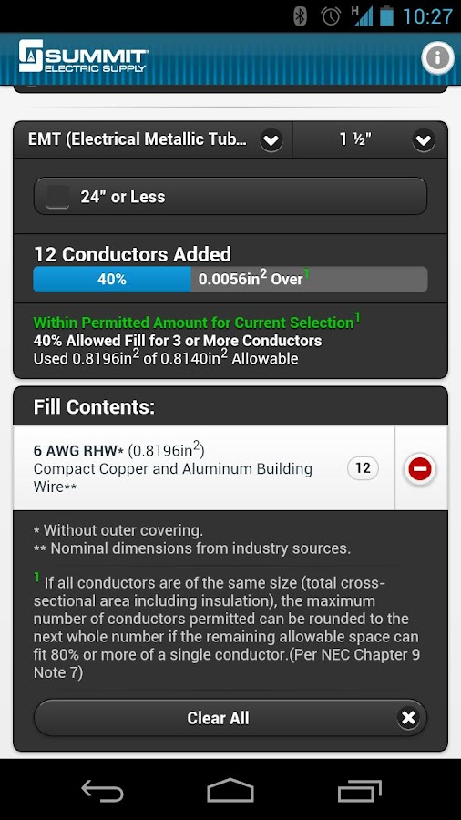 Conduit fill tracker android apps on google play conduit fill tracker screenshot greentooth