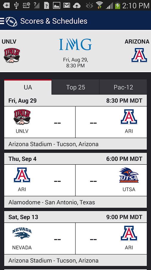 Arizona Wildcats Gameday - screenshot