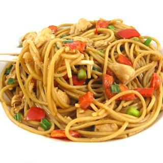 Skinny Thai Chicken and Peanut Noodles Recipe