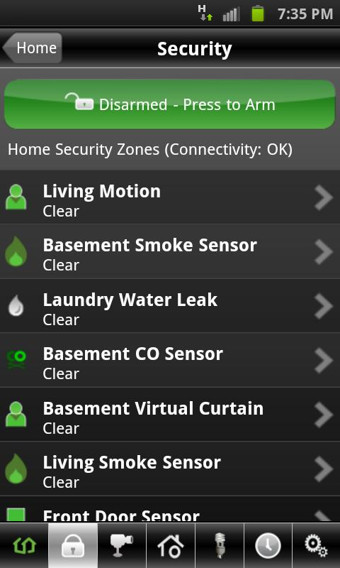 Rogers Smart Home Monitoring - screenshot