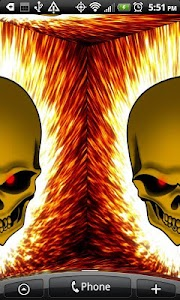 Flaming Skull Live Wallpaper screenshot 4