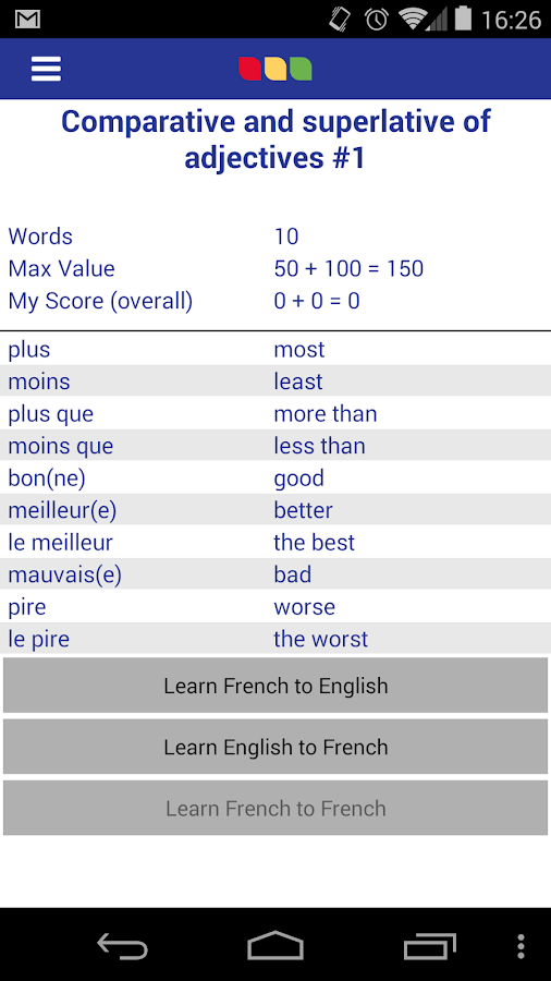 Vocab Express- screenshot