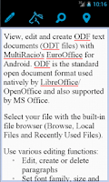 Screenshot of EuroOffice for Android