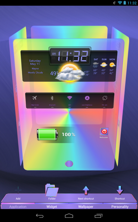 Next Launcher 3D Pastels - screenshot