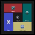 ダーク(透明)テーマ(スクエアホーム) icon