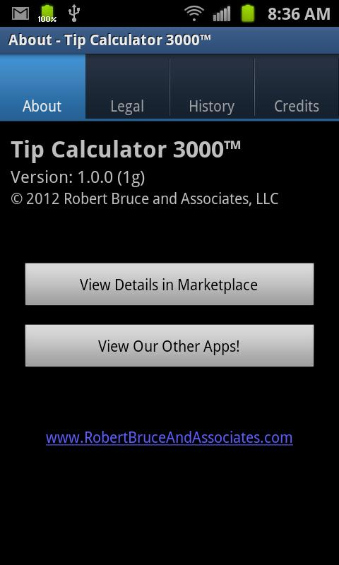 Tip Calculator 3000- screenshot