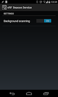 Screenshot of nRF Beacon Service