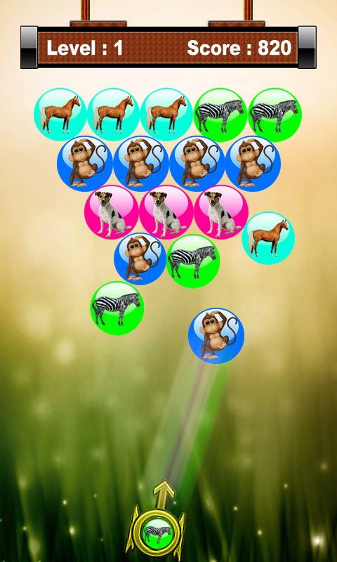 Angry Animal Bubble Shooter- screenshot
