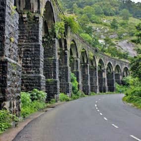 Leading on beyond the visible.... by Anoop Namboothiri - Buildings & Architecture Bridges & Suspended Structures ( hill, old, greenery, stone, overbridge, rock, bridge, architecture, road, anoop namboothiri., railway track, antique, , Hope, vertical lines, pwc, path, nature, landscape, renewal, green, trees, forests, natural, scenic, relaxing, meditation, the mood factory, mood, emotions, jade, revive, inspirational, earthly )