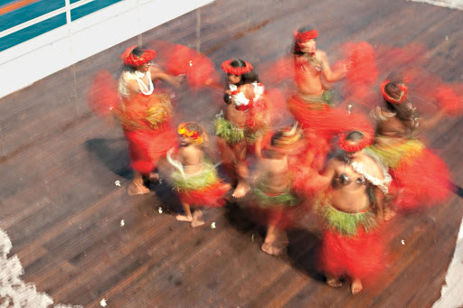 Shows by local performers bring a taste of true Polynesian style to the pool deck of the Paul Gauguin.