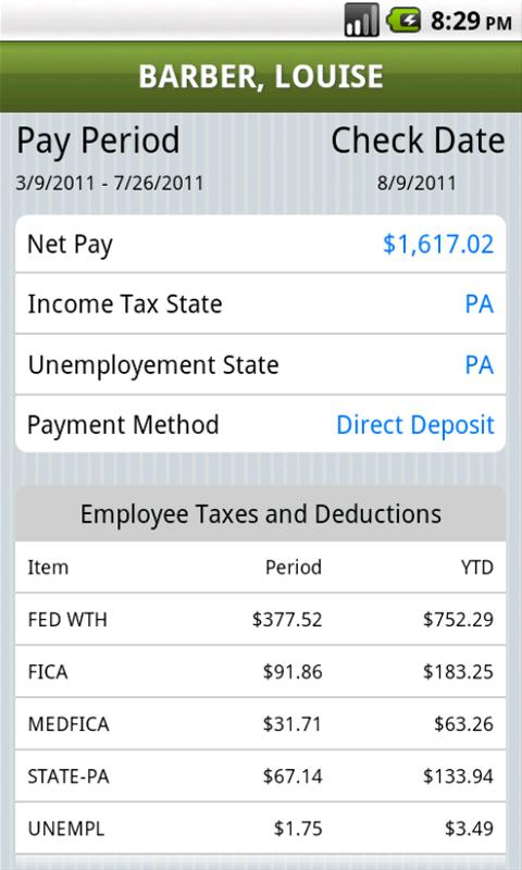 Mobile Payroll by SurePayroll - screenshot