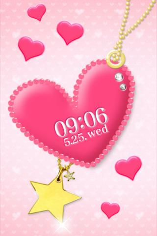 pink heart LiveWallpaper - screenshot