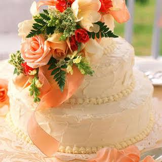 Fresh Orange Wedding Cake.