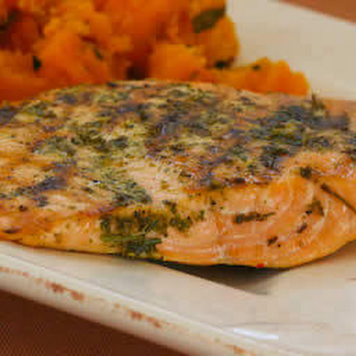 Herb-Encrusted Grilled Salmon Recipe