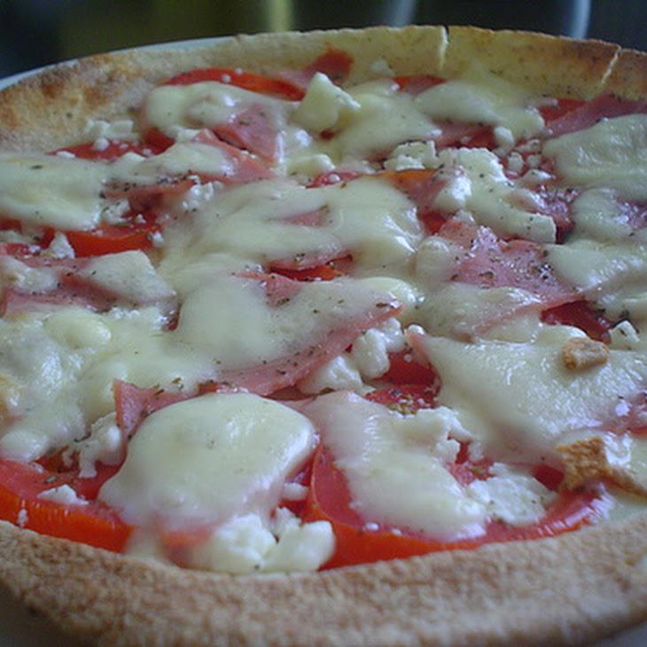 Caprese Pizza with Ham Recipe