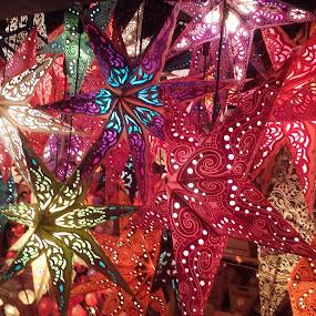 Mainzer Weihnachtsmarkt Booth by Joe Harris - Public Holidays Christmas ( lights, holiday, stars, christmas lights, christmas, holidays,  )