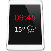 Tablet Clock Weather Widget