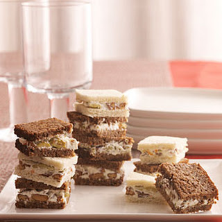 Olive-Nut Spread Sandwiches.